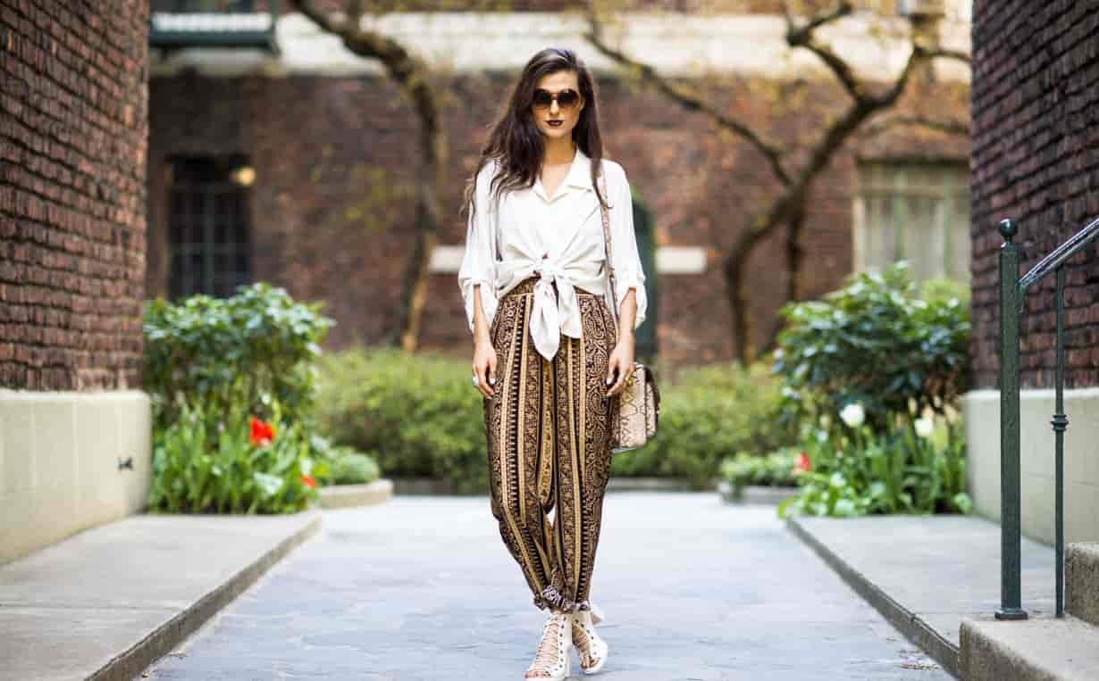 Women Trendy Printed Trousers