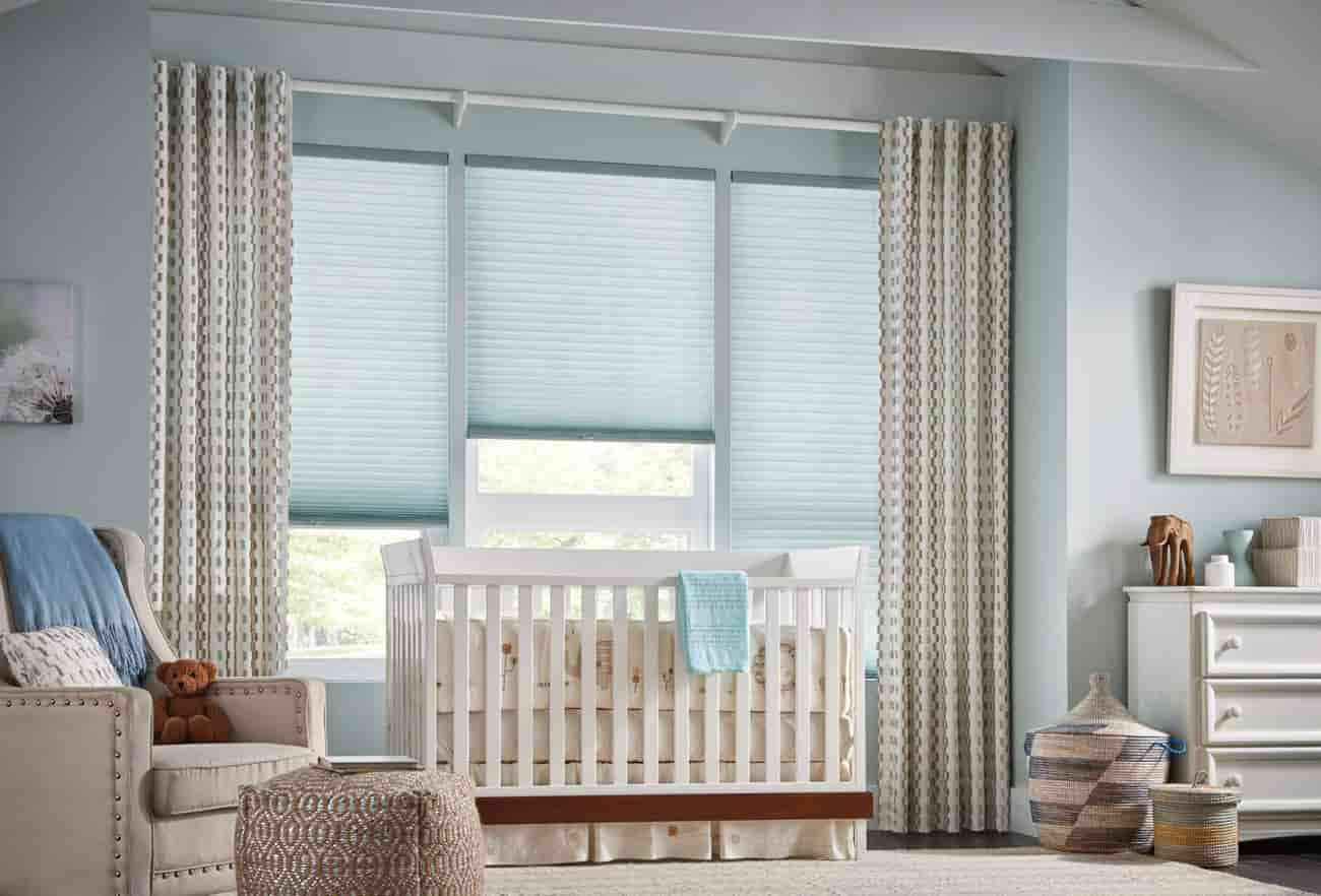 Curtains and blinds Help to keep things neat