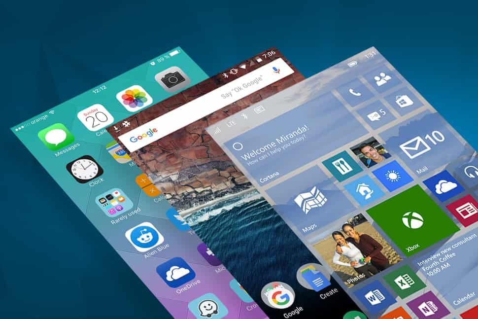 Different mobile OS of the device is available in the market