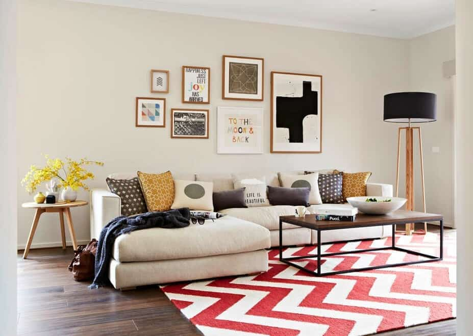use carpets of different patterns and designs