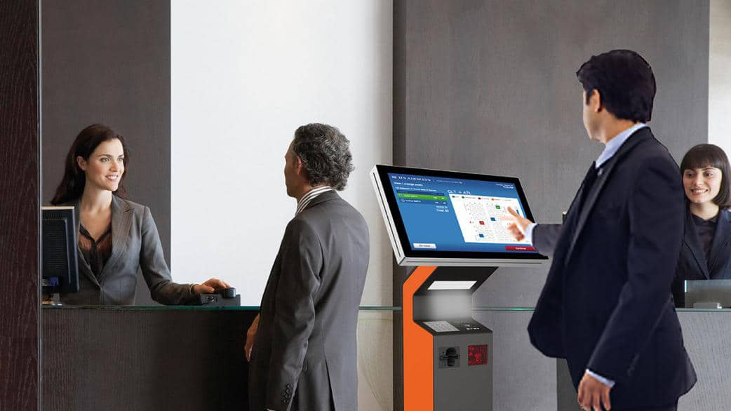 Add check-in kiosks within the hotel lobby