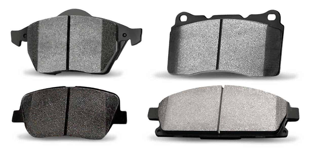 Several Types of Used Brake Pads