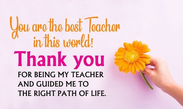 Greet your lovable teacher