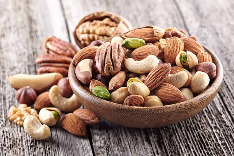 Snacking On Nuts And Dry Fruits