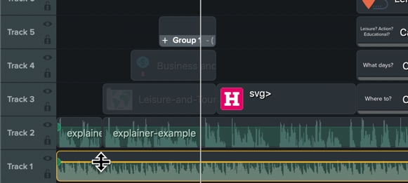 The process of adding text while creating an Animated Explainer Video