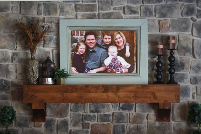 family picture in a customized frame