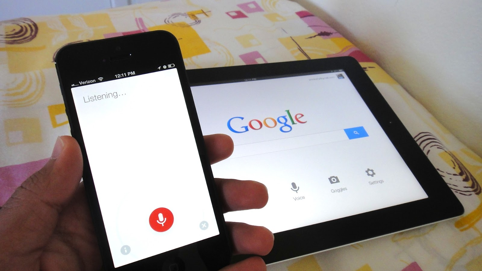 Accessing Hands-Free Voice Search With The Google App