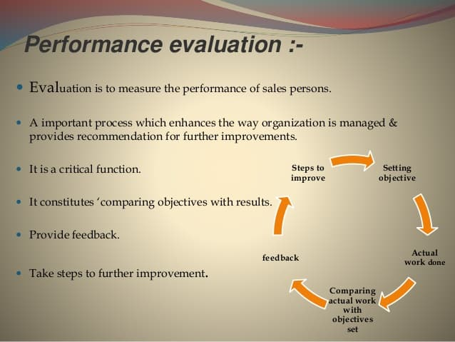Sale Performance Evaluation Give Benefit To Company