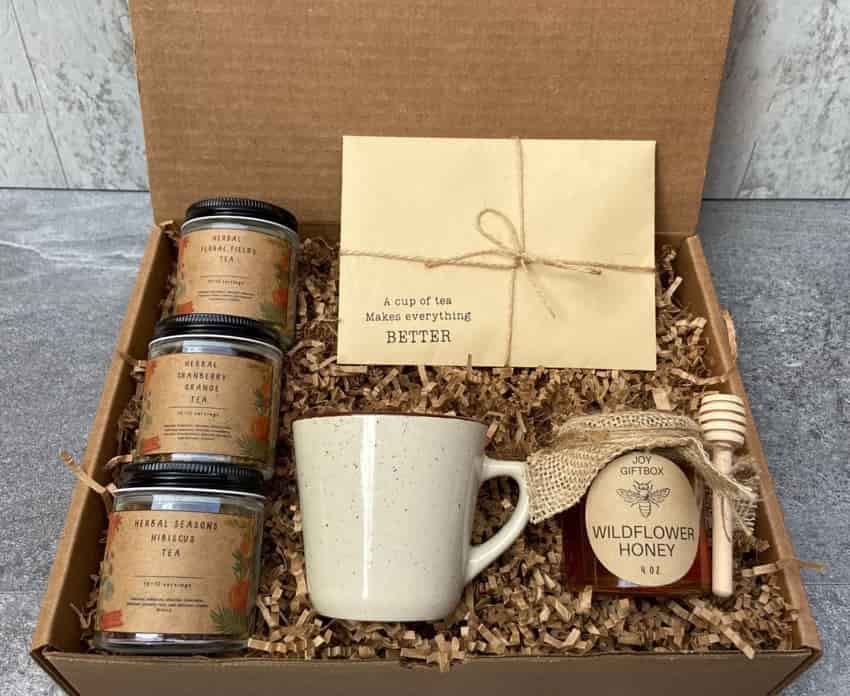Tea boxes as gifts