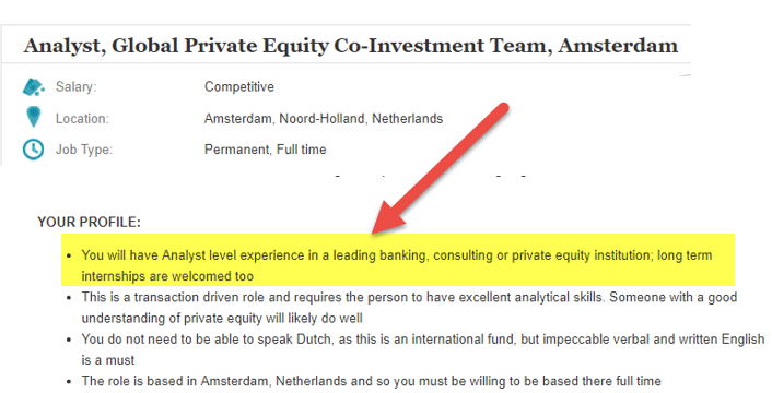 Private Equity Jobs