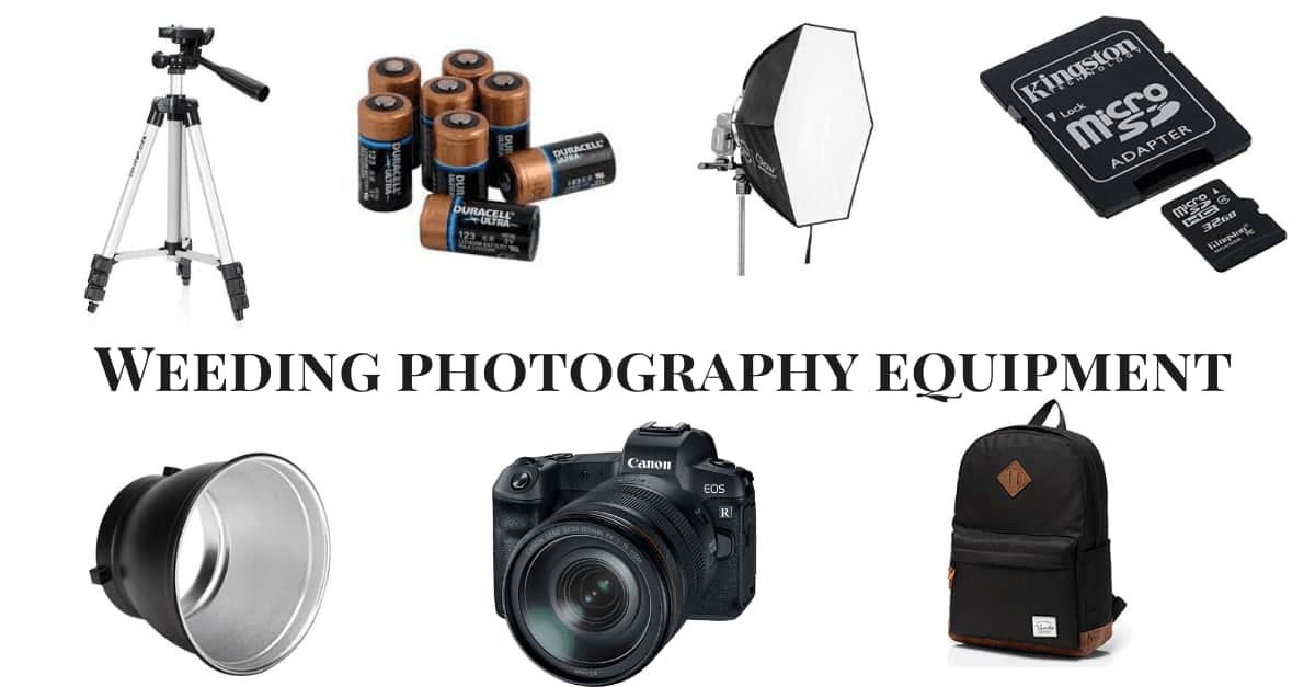 What equipment do you use in wedding photography