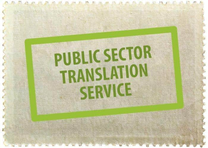 translation services in the public sector