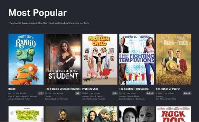 Less Variety for free online streaming websites for movies