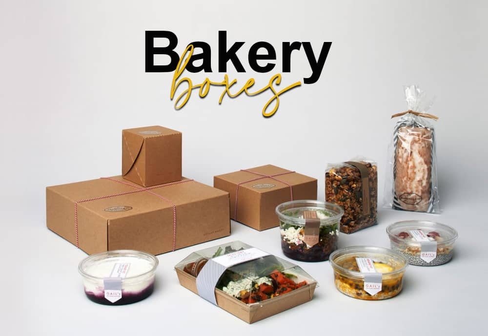 Bakery boxes manufactured with Kraft and cardboard