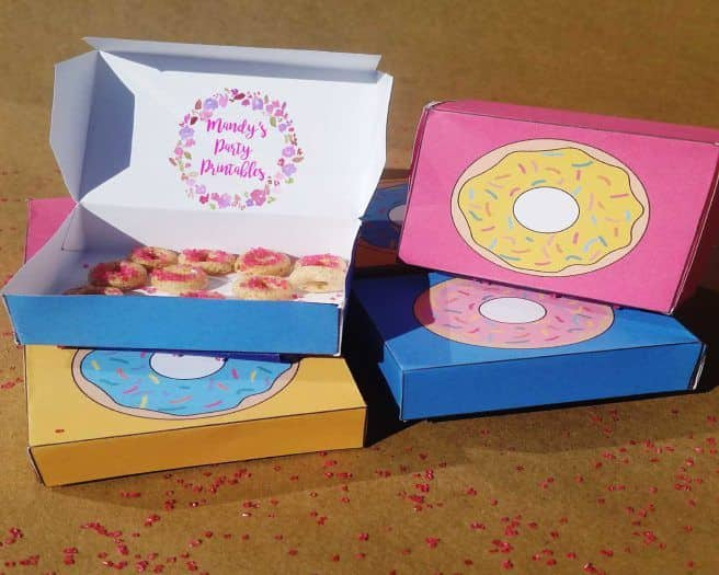 Custom Donuts Boxes with full-color printing