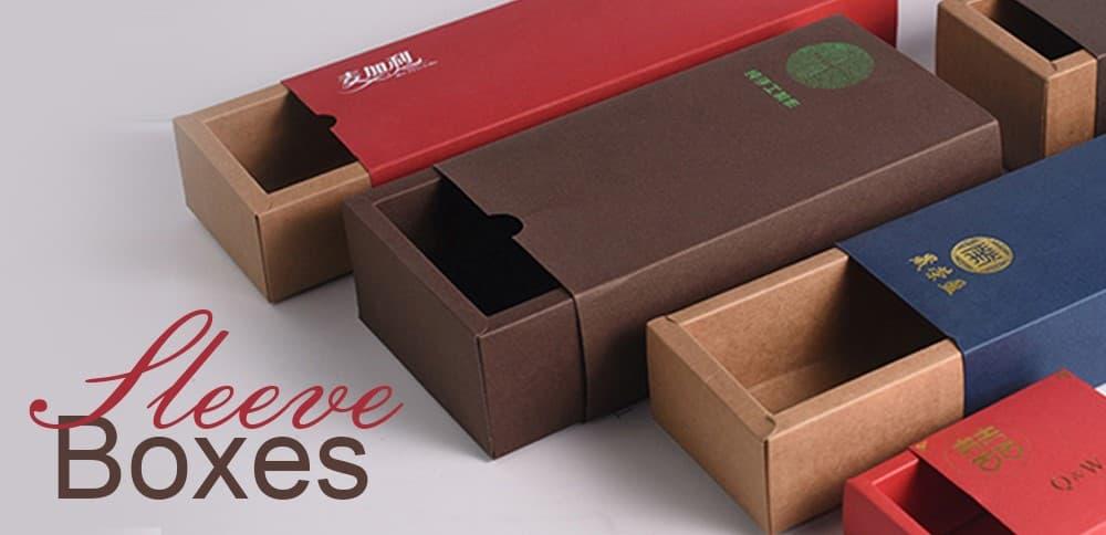 Multiple designs of custom sleeve boxes
