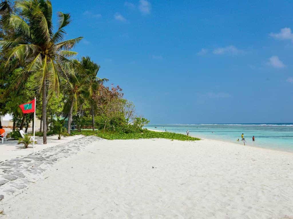 Hulhumale Beachin Maldives