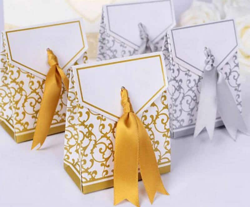 Silver Or Gold Foil Stamping on Wedding Favor Bags