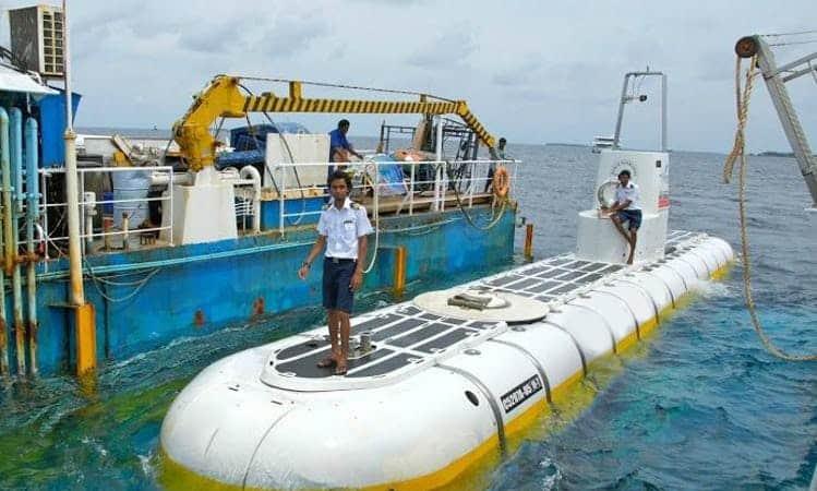 Whale Submarine in Maldives
