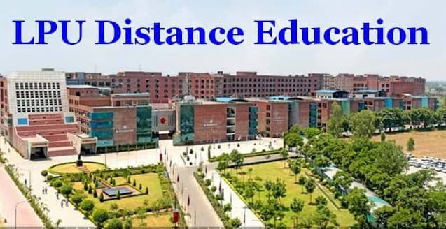 LPU is affording distance education