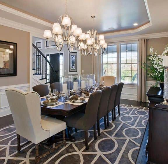Design an eat-in kitchen in dining room