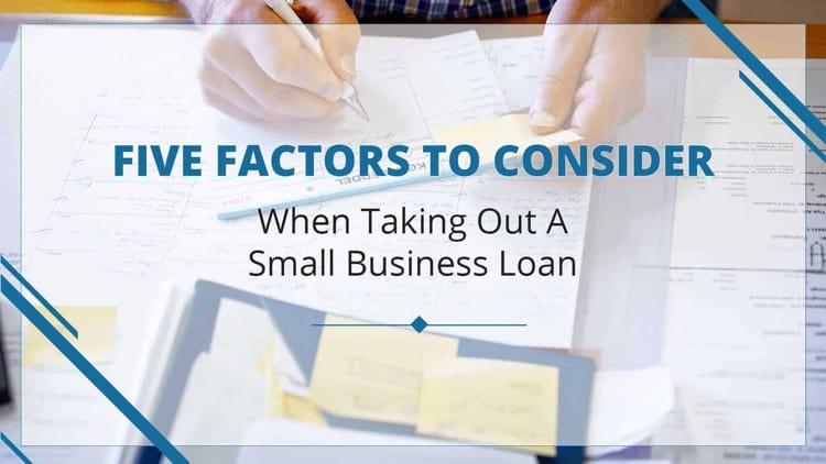 Factors to consider before applying for a business loan