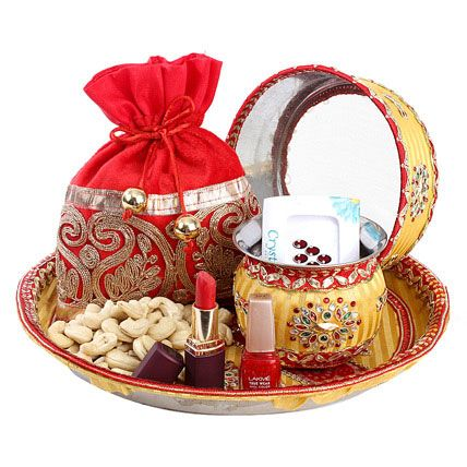 Gifts in Virtual KarvaChauth Celebration