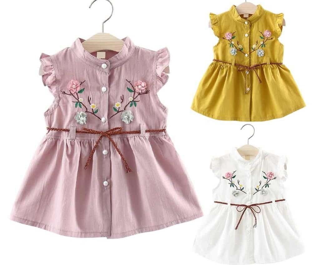 Little girls' clothes with vast patterns & shades