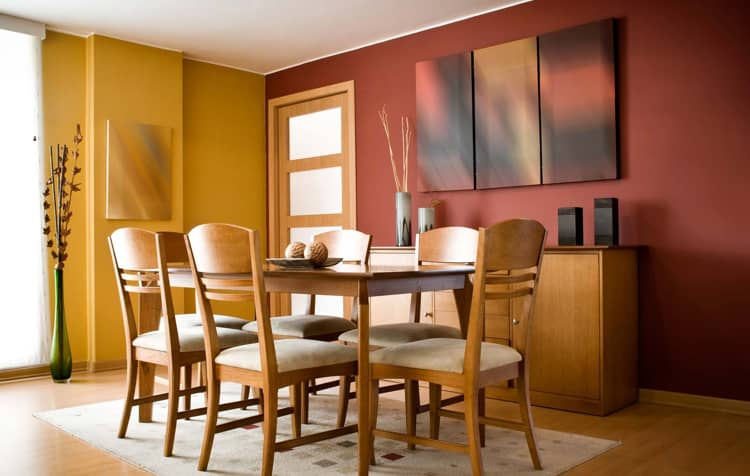 Proper colors in dining room