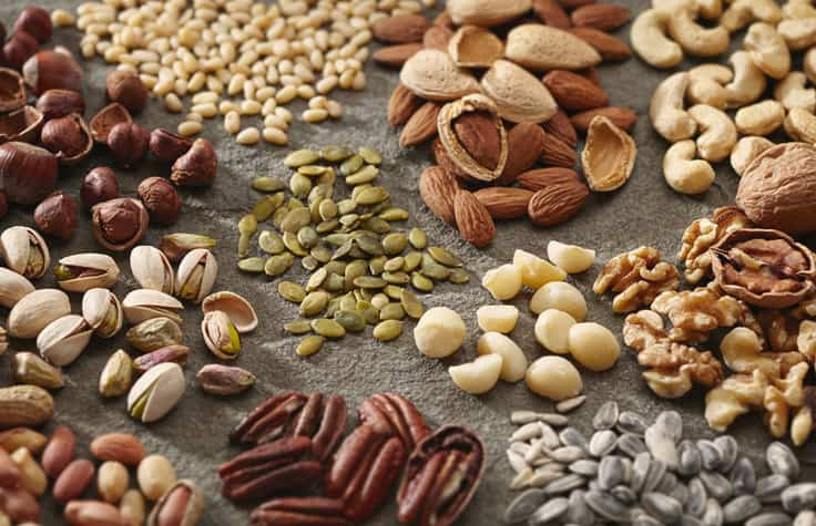 Eat lots of nuts, fruits, seeds and seeds while quite smoking